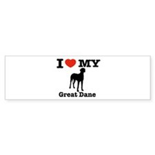 I love my Great Dane Bumper Sticker (50 pk)