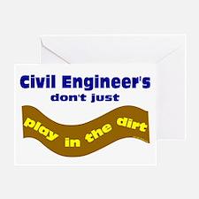Civil Engineers Play Greeting Card