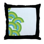 Mellow Blue Retro Throw Pillow