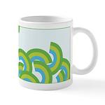 Mellow Blue Retro Ceramic Coffee Mug
