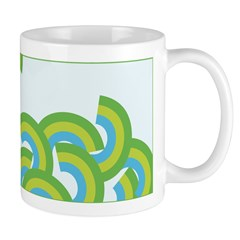 Mellow Blue Retro Ceramic Coffee Mug