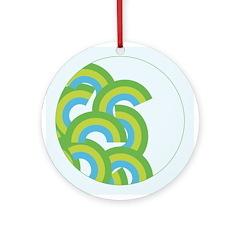 Mellow Blue Retro Ornament (Round)