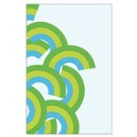 Mellow Blue Retro Large Poster