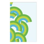 Mellow Blue Retro Postcards (Package of 8)