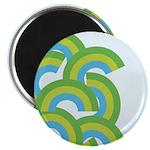 "Mellow Blue Retro 2.25"" Magnet (10 pack)"