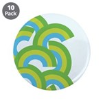 "Mellow Blue Retro 3.5"" Button (10 pack)"