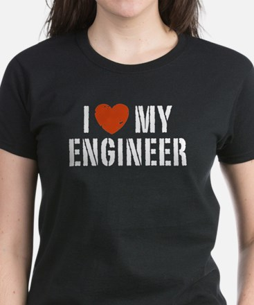 I Love My Engineer Women's Dark T-Shirt