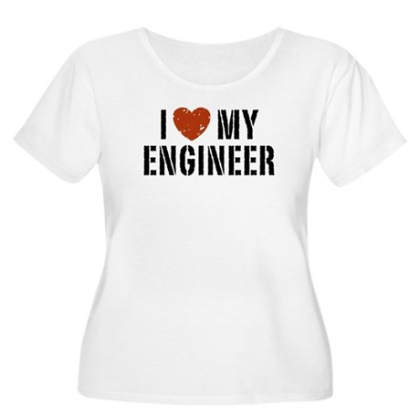 I Love My Engineer Women's Plus Size Scoop Neck T-