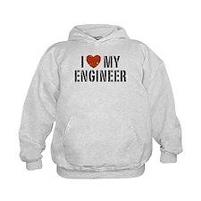 I Love My Engineer Hoodie