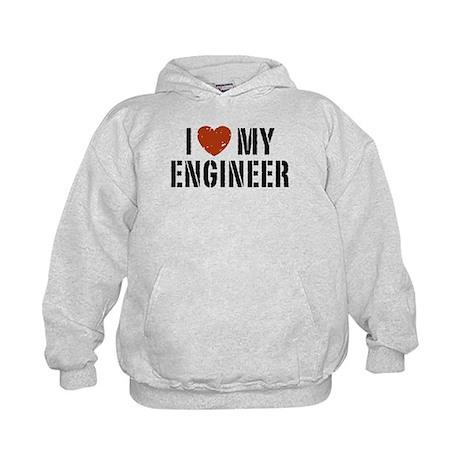 I Love My Engineer Kids Hoodie