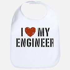I Love My Engineer Bib