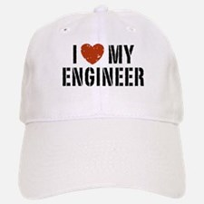 I Love My Engineer Baseball Baseball Cap