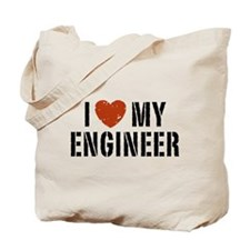 I Love My Engineer Tote Bag