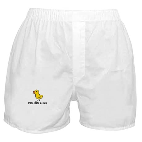 Fishing Chick Boxer Shorts