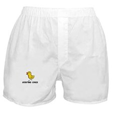 Golfing Chick Boxer Shorts
