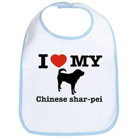 I love my Chinese Shar-pei Bib