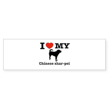 I love my Chinese Shar-pei Bumper Sticker
