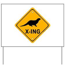 Otter X-ing Yard Sign