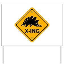 Dino3 X-ing Yard Sign