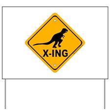 Dino2 X-ing Yard Sign