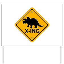 Dino1 X-ing Yard Sign
