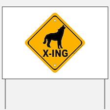 Wolf X-ing Yard Sign
