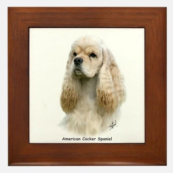 American Cocker Spaniel 9Y244D-035 Framed Tile
