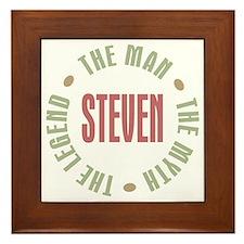 Steven Man Myth Legend Framed Tile