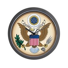 Presidents Seal Wall Clock