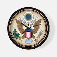 Presidents Seal Wall Clock