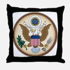 Presidents Seal Throw Pillow
