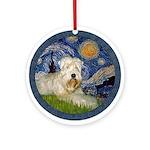 Starry / Wheaten (#1W) Ornament (Round)