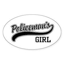 Policeman's Girl Oval Decal