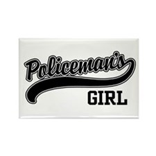 Policeman's Girl Rectangle Magnet