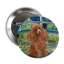 """Lily Pond Bridge/Poodle (apri 2.25"""" Button"""