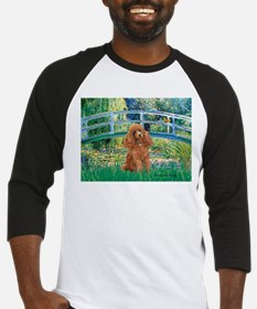 Lily Pond Bridge/Poodle (apri Baseball Jersey