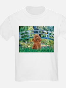 Lily Pond Bridge/Poodle (apri T-Shirt