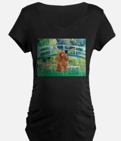 Lily Pond Bridge/Poodle (apri T-Shirt