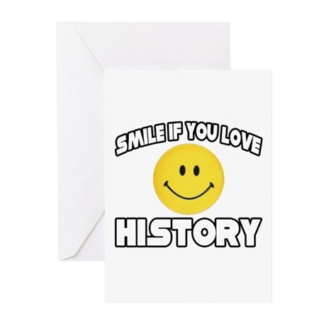 """""""Smile if You Love History"""" Greeting Cards (Pk of"""