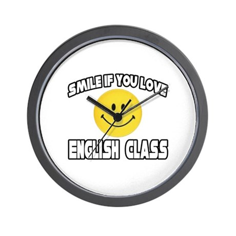 """Smile...Love English Class"" Wall Clock"