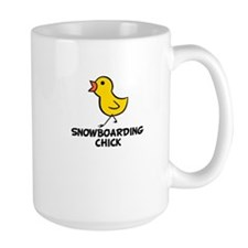 Snowboarding Chick Mug