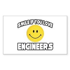 """""""Smile...Love Engineers"""" Rectangle Decal"""
