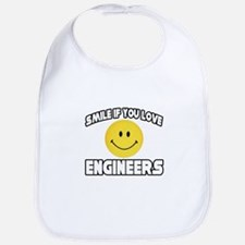 """Smile...Love Engineers"" Bib"