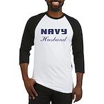 Navy Husband Baseball Jersey