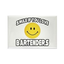 """Smile...Love Bartenders"" Rectangle Magnet"