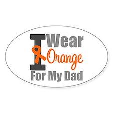 I Wear Orange (Dad) Oval Sticker (10 pk)
