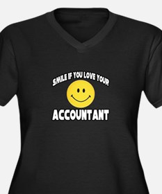"""""""Smile: Love Your Accountant"""" Women's Plus Size V-"""