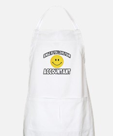 """""""Smile: Love Your Accountant"""" BBQ Apron"""