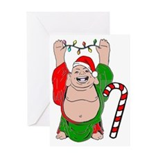 Christmas Buddha Greeting Card