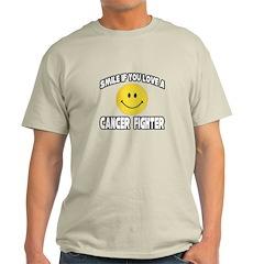 """Smile: Love Cancer Fighter"" Light T-Shirt"